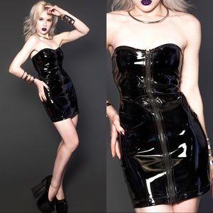 Lip Service Vintage Vinyl Dress XS Goth Vampire